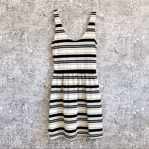 J. Crew (Factory) Striped Button Back Villa Dress